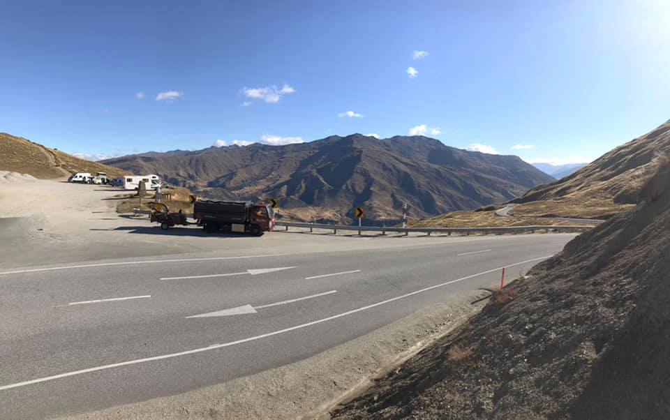 Our truck on the Crown Range - Queenstown Arborist RoyalTree